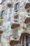 Фронт Касы Batllo, проекта Gaudi, Барселоны, Испании Стоковая Фотография RF