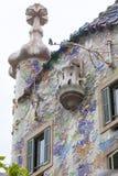 Фронт Касы Batllo, проекта Gaudi, Барселоны, Испании Стоковая Фотография