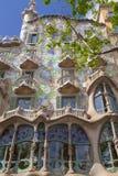 Фронт Касы Batllo, проекта Gaudi, Барселоны, Испании Стоковые Фото