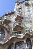 Фронт Касы Batllo, проекта Gaudi, Барселоны, Испании Стоковое Фото