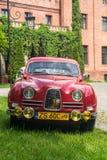 Фронт классического автомобиля Saab 96 шведского языка Стоковые Фото