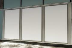 Фронт магазина бутика магазина с большим окном и место для имени Стоковые Фотографии RF