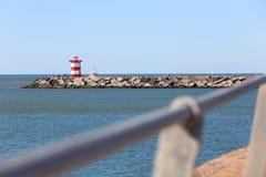 Фронт маяка моря Гааги нидерландский стоковые фотографии rf