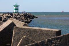 Фронт маяка моря Гааги нидерландский стоковые изображения rf