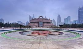 Фронт музея квадрата Китая Шанхая Ppl Стоковые Фото