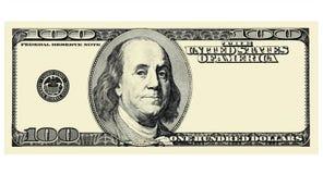 Фронт 100 долларовых банкнот при copyspace, изолированное для дизайна Иллюстрация вектора
