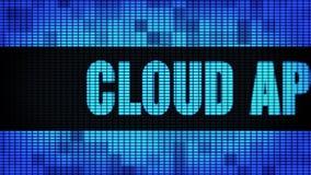 Фронт применения облака отправляет SMS перечислению доски знака дисплея с плоским экраном стены СИД акции видеоматериалы