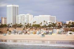 Фронт пляжа Санта-Моника Стоковые Фото
