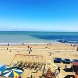 Фронт пляжа Broadstairs в лете Стоковое Изображение RF