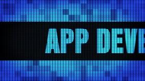 Фронт развития приложения отправляет SMS перечислению доски знака дисплея с плоским экраном стены СИД сток-видео
