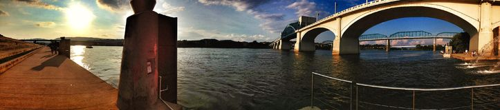 Фронт реки Chattanooga стоковые фото