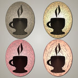 фронт фокуса чашек кофейной чашки мечтательный имеет смотреть фото мягкое Графический стиль Стоковое Фото