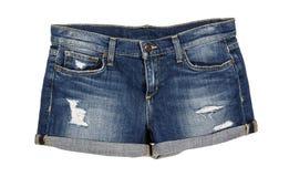 Фронт шортов Джина джинсовой ткани Стоковые Фотографии RF