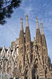 Фронт Sagrada Familia стоковые изображения