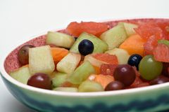 фруктовый салат тарелки Стоковые Изображения
