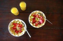 Фруктовый салат завтрака Стоковое Изображение RF