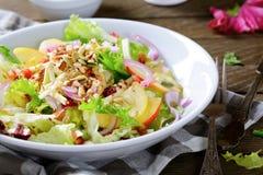Фруктовый салат зимы на плите Стоковое Фото
