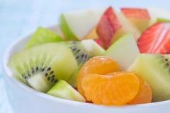 Фруктовый салат крупного плана для здоровой Стоковая Фотография RF