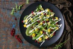 Фруктовый салат с югуртом Стоковое Изображение RF