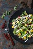 Фруктовый салат с югуртом Стоковая Фотография