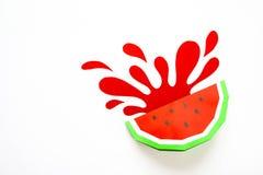 Фруктовый сок концепции, reklama элемента Выплеск от арбуза стоковые изображения rf