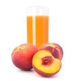 Фруктовый сок персика в стекле Стоковое Изображение RF