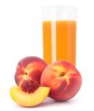 Фруктовый сок персика в стекле Стоковая Фотография RF