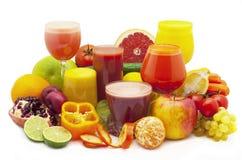 Фруктовый сок фрукта и овоща Стоковые Изображения RF