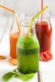 Фруктовый сок фруктов и овощей в бутылке Стоковые Фотографии RF