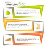 Фрукты и овощи листовок страницы шаблона витамина Стоковое фото RF