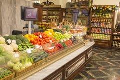 Фрукты и овощи на рынке хуторянин стоковое фото