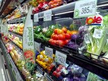 Фрукты и овощи проданные в гастрономе Стоковое Изображение RF