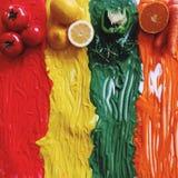 Фрукты И овощи стоковые изображения rf