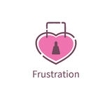 Фрустрация влюбленности значка бесплатная иллюстрация