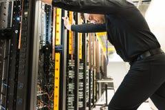 Фрустрация сервера стоковые фото