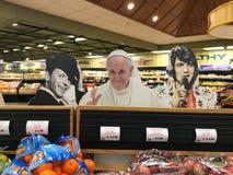 Фрэнк Синатра, вырезы картона Папы и Elvis стоковое изображение rf