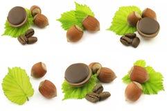 фундуки шоколада конфеты Стоковое Изображение