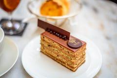 Фундук бара печенья с шоколадным тортом молока Стоковые Фотографии RF