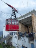 Фуникулер в Sinaia, Румынии Стоковые Изображения RF