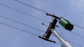 Фуникулер гондолы кабел-крана на голубом небе видеоматериал