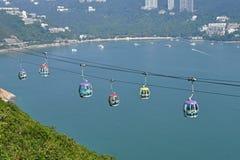 Фуникулер Гонконга парка океана Стоковое Изображение