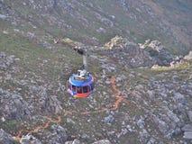 Фуникулер приносит много туристов до национального парка горы таблицы Стоковые Изображения