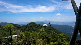 Фуникулер Langkawi, или SkyCab, остров Langkawi, Малайзия сток-видео