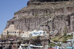 Фуникулер Santorini Oia стоковое изображение rf