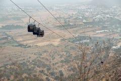Фуникулярный в горе в Pushkar, Индии Стоковое Изображение RF