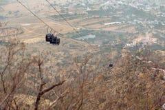 Фуникулярный в горе в Pushkar, Индии Стоковое фото RF