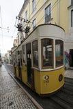 Фуникулярный da Bica в Лиссабоне Стоковые Фотографии RF
