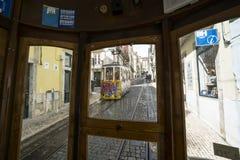 Фуникулярный da Bica в Лиссабоне Стоковые Изображения RF