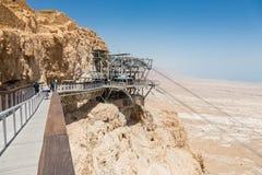 Фуникулер в национальном парке Masada, Израиле стоковая фотография