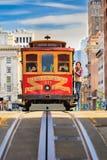 Фуникулер в Сан-Франциско Стоковое Изображение RF